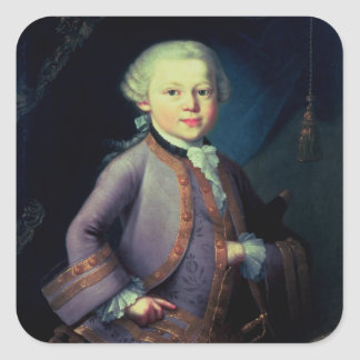 Wolfgang Amadeus Mozart 1763 Square Stickers
