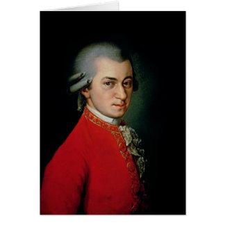Wolfgang Amadeus Mozart, 1818 Greeting Card
