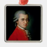 Wolfgang Amadeus Mozart, 1818 Silver-Colored Square Decoration