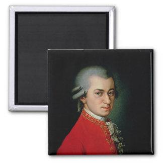 Wolfgang Amadeus Mozart, 1818 Square Magnet