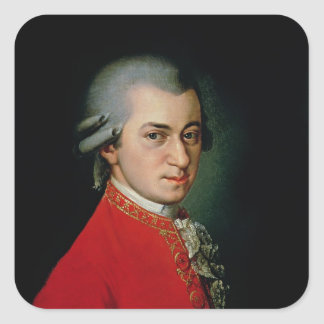 Wolfgang Amadeus Mozart 1818 Square Stickers
