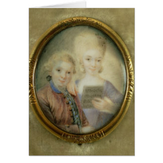 Wolfgang Amadeus Mozart  and his sister Greeting Card