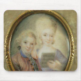 Wolfgang Amadeus Mozart  and his sister Mouse Mat