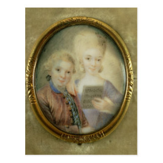 Wolfgang Amadeus Mozart  and his sister Postcard