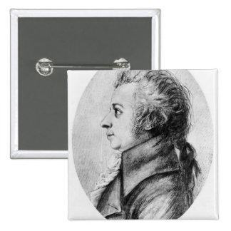 Wolfgang Amadeus Mozart 15 Cm Square Badge