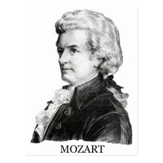 Wolfgang Amadeus Mozart black Postcards