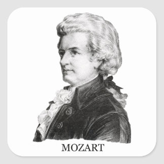 Wolfgang Amadeus Mozart black Sticker