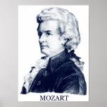 Wolfgang Amadeus Mozart, blue Poster