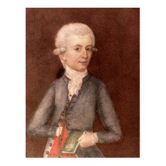Wolfgang Amadeus Mozart c 1780 Post Card