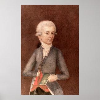 Wolfgang Amadeus Mozart, c.1780 Poster