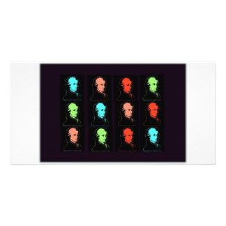 Wolfgang Amadeus Mozart Collage Customised Photo Card