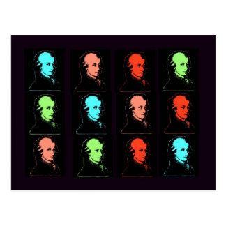Wolfgang Amadeus Mozart Collage Postcard