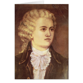 Wolfgang Amadeus Mozart  during his stay Greeting Card