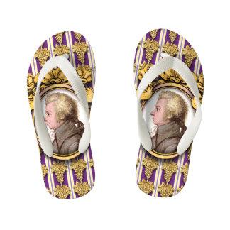 Wolfgang Amadeus Mozart Flip Flops