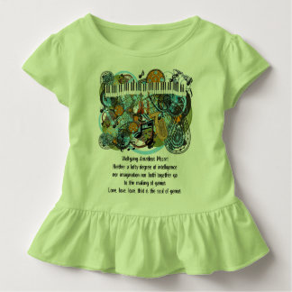 Wolfgang Amadeus Mozart Inspirational Quotes Toddler T-Shirt