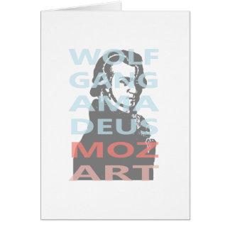 Wolfgang Amadeus Mozart Note Card