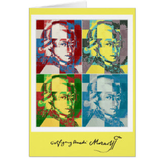 Wolfgang Amadeus Mozart pop art Note Card