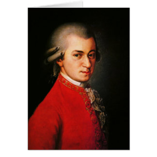 Wolfgang Amadeus Mozart portrait Greeting Card