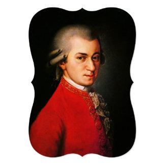 Wolfgang Amadeus Mozart portrait 13 Cm X 18 Cm Invitation Card