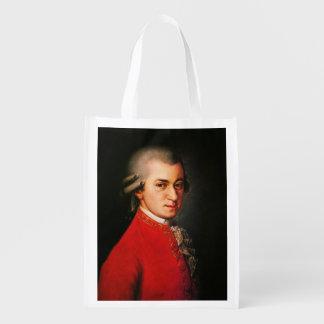 Wolfgang Amadeus Mozart portrait Reusable Grocery Bag