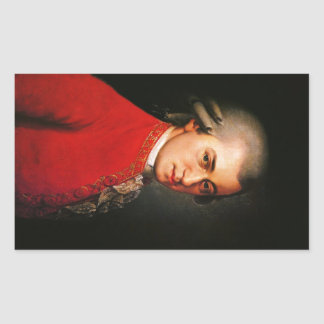Wolfgang Amadeus Mozart portrait Sticker