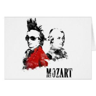 Wolfgang Amadeus Mozart Punk Greeting Card