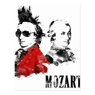 Wolfgang Amadeus Mozart Punk Postcard