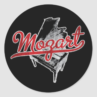 Wolfgang Amadeus Mozart Round Stickers