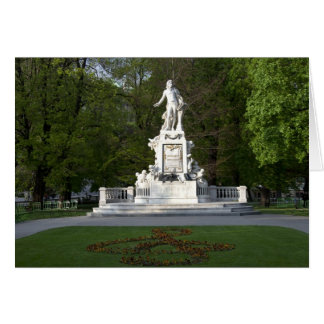 Wolfgang Amadeus Mozart Statue Greeting Card