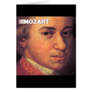 Wolfgang Amadeus Mozart Stuff Greeting Card