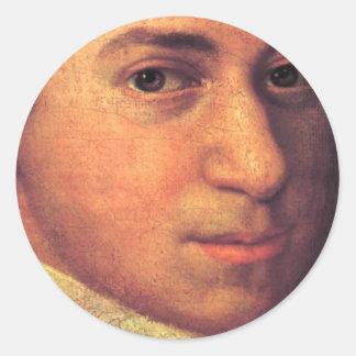 Wolfgang Amadeus Mozart Stuff Round Stickers