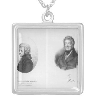 Wolfgang Amedeus Mozart  and Ferdinando Paer Silver Plated Necklace