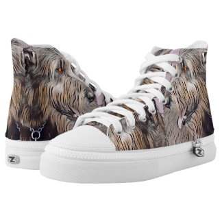 Wolfhound Profile in Pastel Printed Shoes