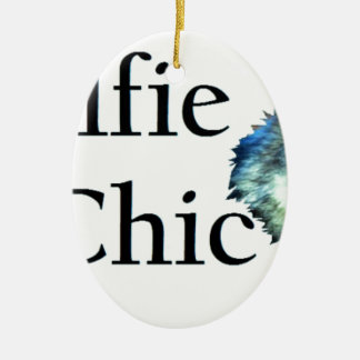 Wolfie Le Chic Ceramic Oval Decoration