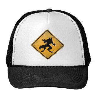 Wolfman Warning Sign Cap