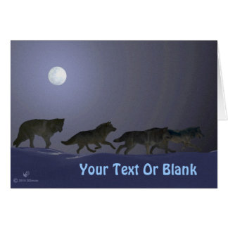Wolfpack Greeting Card