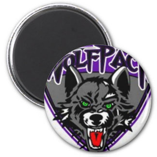 Wolfpack Products 6 Cm Round Magnet