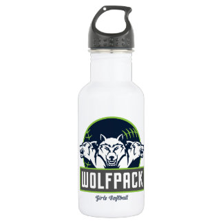 WolfPack Water Bottle (18 oz), White