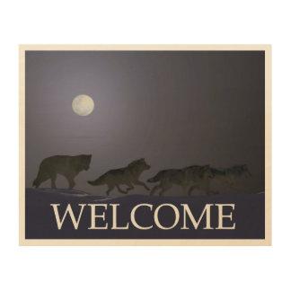Wolfpack - Welcome Wood Print