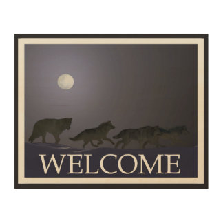 Wolfpack - Welcome Wood Wall Decor