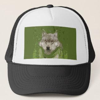 Wolf's Head Abstract Trucker Hat