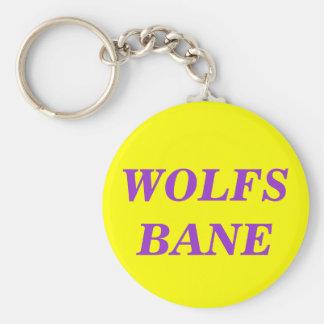WOLFSBANE BASIC ROUND BUTTON KEY RING