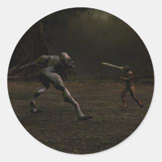 Wolfsbane Round Sticker