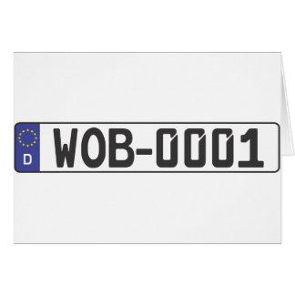 Wolfsburg License Plate Greeting Cards