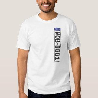 Wolfsburg License Plate T-shirts