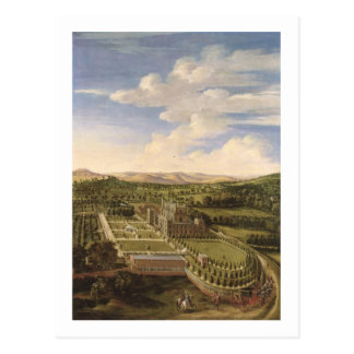Wollaton Hall and Park Nottingham 1697 oil on c Postcards