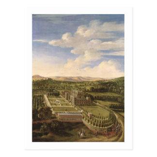 Wollaton Hall and Park, Nottingham, 1697 (oil on c Postcard