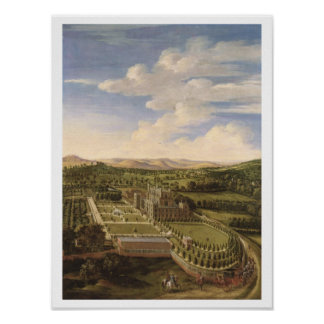 Wollaton Hall and Park, Nottingham, 1697 (oil on c Poster