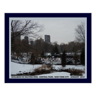 Wollman Ice Skating Rink Central Park NYC Poster