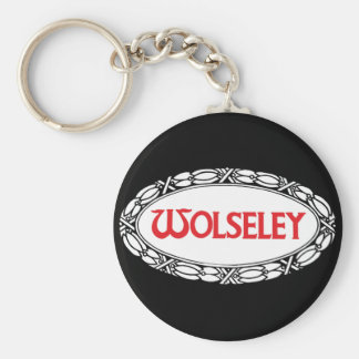 Wolseley Car Classic Vintage Hiking Duck Basic Round Button Key Ring